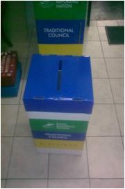 FULL COLOUR DIE-CUT TAMPER PROOF FLOOR STANDING BALLOT BOX