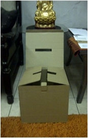 DIE-CUT BALLOT BOX
