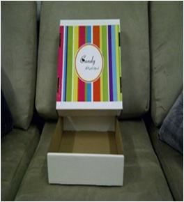 DIE-CUT BALLOT BOX